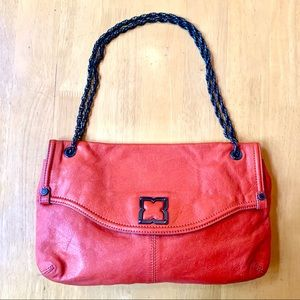 BCBG red leather chain strap purse